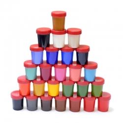 Ebru gamtinių marmuravimo dažų rinkinys - 26 spalvos