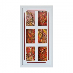 "Ebru paveikslas ""Liepsnojanti ugnis"""