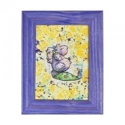 """Ebru paveikslas """"Linksmieji peliukai"""""""