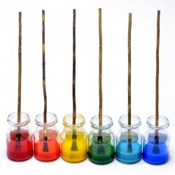 Ebru gamtinių marmuravimo dažų rinkinys - 10 spalvų