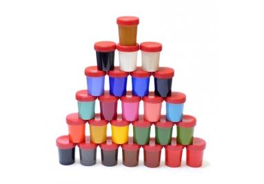Ebru gamtinių dažų rinkinys - 26 spalvos